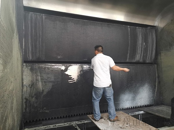 家电制造喷涂水性漆漆雾凝聚剂案例3